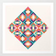 Colorful Geometric Art Print