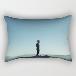 Alone in the blue summit Rectangular Pillow