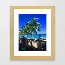 Montego Bay Beach Framed Art Print