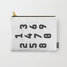 Typography Numbers #2 Carry-All Pouch