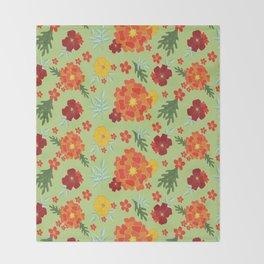 Marigolds Throw Blanket