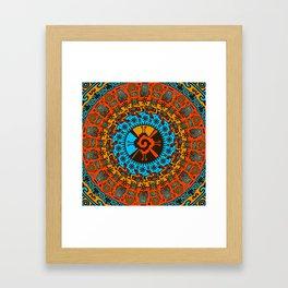 Colorful Hunab Ku Mayan symbol #7 Framed Art Print