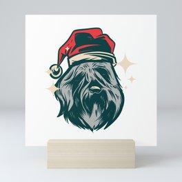 Bouvier des Flandres Christmas Dog Mini Art Print