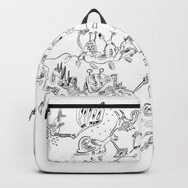 Black jook doodles Backpack