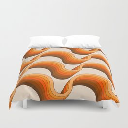 Golden Ribbons Duvet Cover