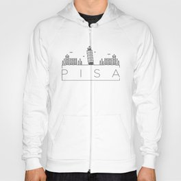 Linear Pisa Skyline Design Hoody