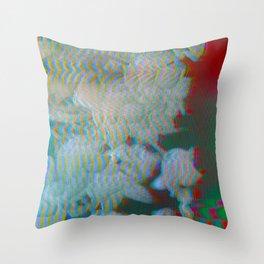 Analogue Glitch Radioactive Bouquet Throw Pillow
