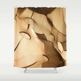 Elastic Waves Shower Curtain