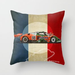 Le Mans 787B Vintage Throw Pillow