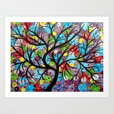 Abstract tree-8 Art Print