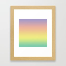 Pastel Colorful Pattern Abstract Rainbow Multi Colored Texture Framed Art Print