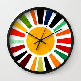 Sun Retro Art Wall Clock