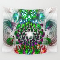 smoking Wall Tapestries featuring smoking feathers by haroulita