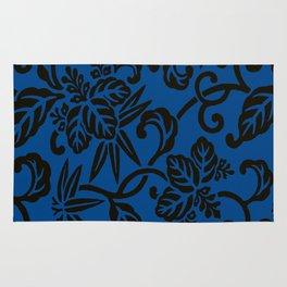 Antique Japanese Pattern : Navy Blue Rug