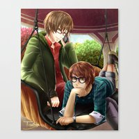hetalia Canvas Prints featuring Hetalia spamano by Sly Blue