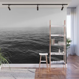 ocean horizon black and white landscape photography Wall Mural