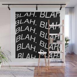 "Monochrome ""Blah"" Print Wall Mural"