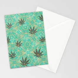 Beachy Steampunk Weed Stationery Cards