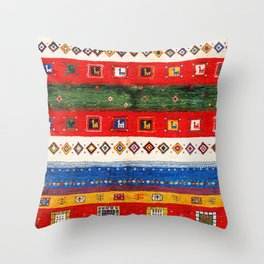 N35 - Bohemain Colored Moroccan Traditional Andalusian Artwork. Throw Pillow