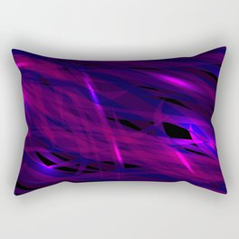 Rich purple and smooth sparkling lines of blueberry ribbons on the theme of space and abstraction. Rectangular Pillow