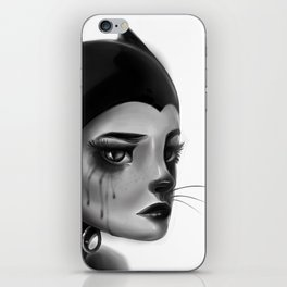 Crying Cat Woman iPhone Skin