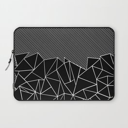 Ab Lines 45 Black Laptop Sleeve