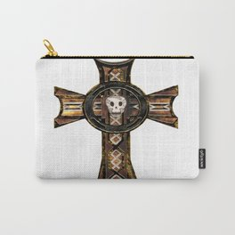 Celtic Cross With Skull Carry-All Pouch
