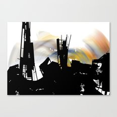 city eclypse Canvas Print