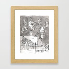 Rideau Center larvae Framed Art Print