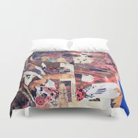 monkey Duvet Covers featuring monkey by echo3005