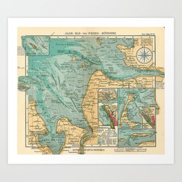 See Atlas 1906 - German Sea Atlas - Germany: Elba, Wilhelmshaven, Bremerhaven, Heligoland, Sylt Art Print