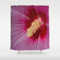 hibiscus Shower Curtains featuring Hibiscus by Lady Tanya bleudragon