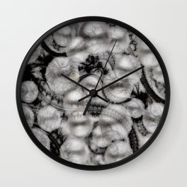 BLACK LACE AND PEARLS Wall Clock