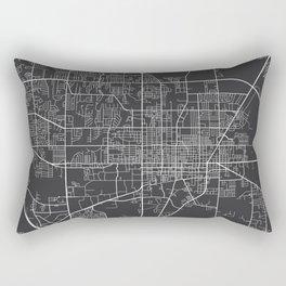 Gainesville Map, USA - Gray Rectangular Pillow