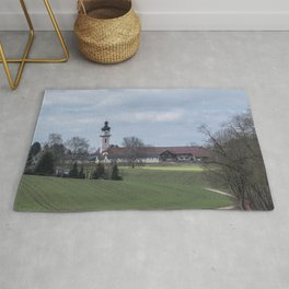 View on Peter and Paul church Laupheim-Germany Rug