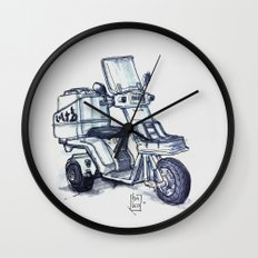 Honda delivery scooter japan Wall Clock