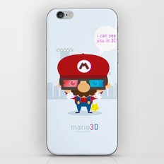 mario 3d iPhone & iPod Skin