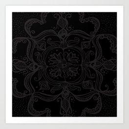 Dark Side Mandala Art Print
