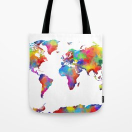 world map colorful 2 Tote Bag