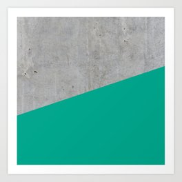 Concrete with Arcadia Color Art Print