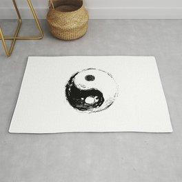 spiritual symbol yin yang Rug