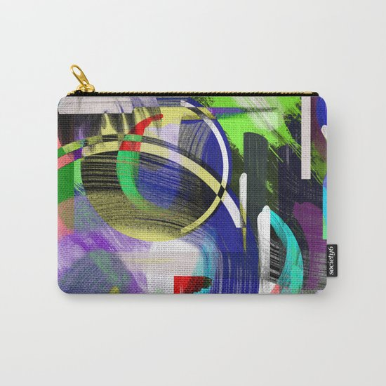 Try To Make Sense Of It All - Random, geometric, eclectic, abstract, colourful art Carry-All Pouch