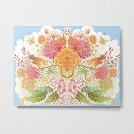 Bird & Butterfly Reflect Metal Print