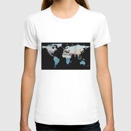 World Map Silhouette - Sailing Round The World T-shirt