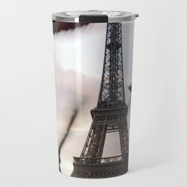 Paris Eiffel tower and flight of birds Travel Mug