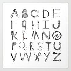 Object Alphabet Art Print