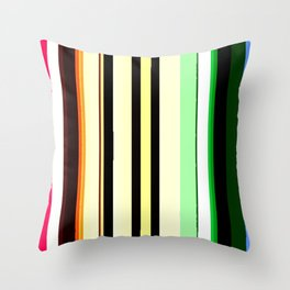 Vivid Lines Throw Pillow