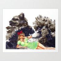 laputa Art Prints featuring Castles by PeaberryRose