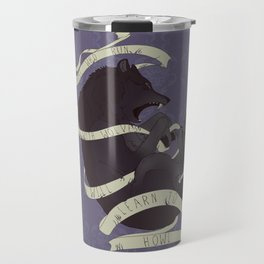 Running with wolves Travel Mug