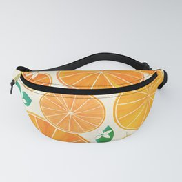 Orange Slices With Blossoms Fanny Pack
